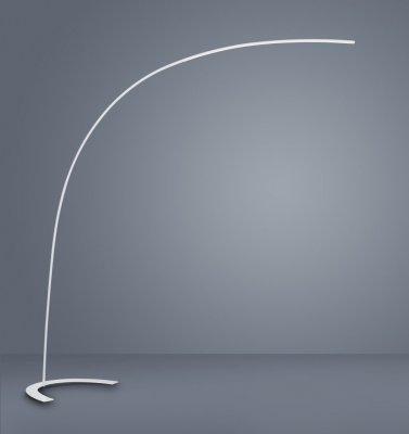 Lampadar led SMD 18W Shanghai, metalic, alb, intrerupator dimabil, design minimalist