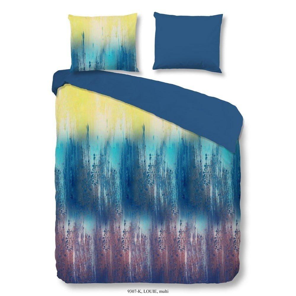 Lenjerie de pat din bumbac Descanso Louie, 135 x 200 cm, imprimeu multicolor