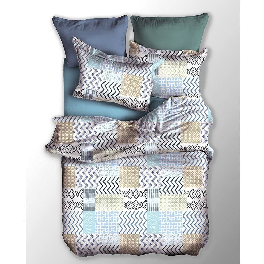 Lenjerie de pat din microfibră DecoKing Ambiance, 200 x 200 cm, imprimeuri geometrice