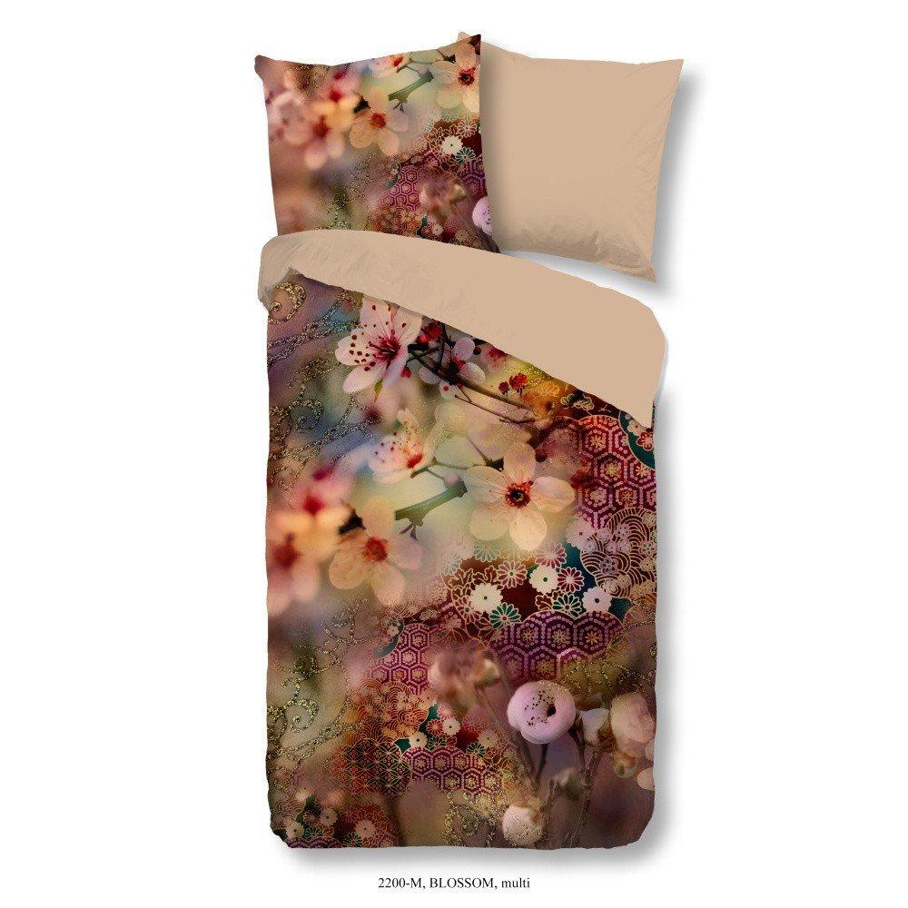 Lenjerie de pat single din micropercal Muller Textiels Chocomania, 140 x 200 cm, imprimeu floral