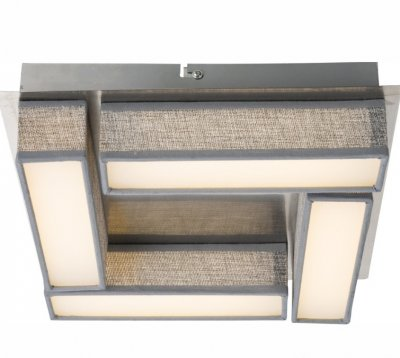 Lustra aplicata, design modern, LED, gri, nickel