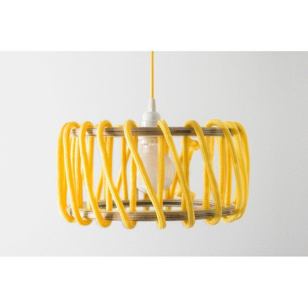Lustră EMKO Macaron, 30 cm, galben, stil industrial