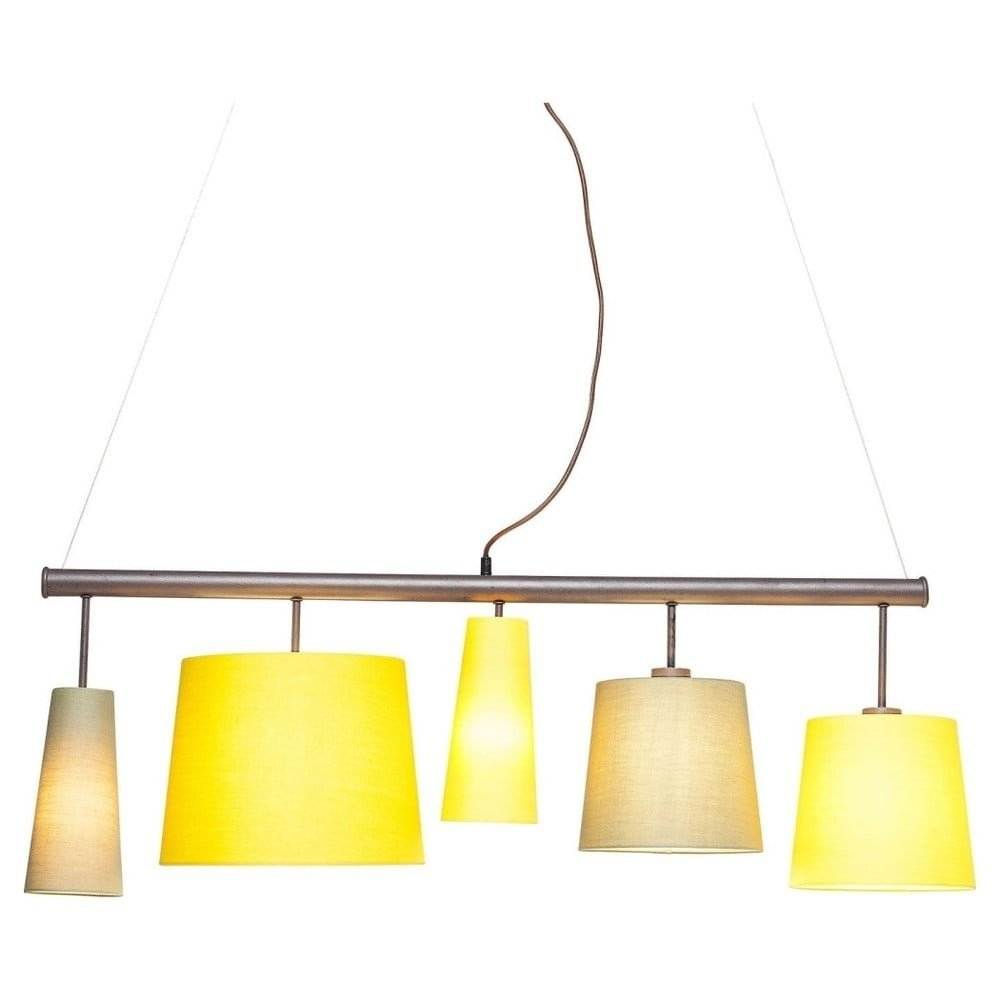 Lustră Kare Design Parecchi, lungime 140 cm, galben