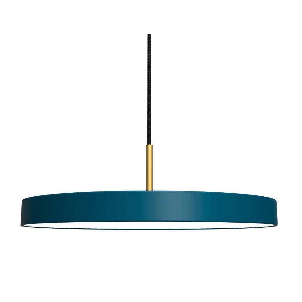 Lustră VITA Copenhagen Asteria, albastru petrol, stil nordic