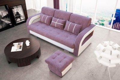 Canapea 3 locuri Nyssa (Roz + Alb)
