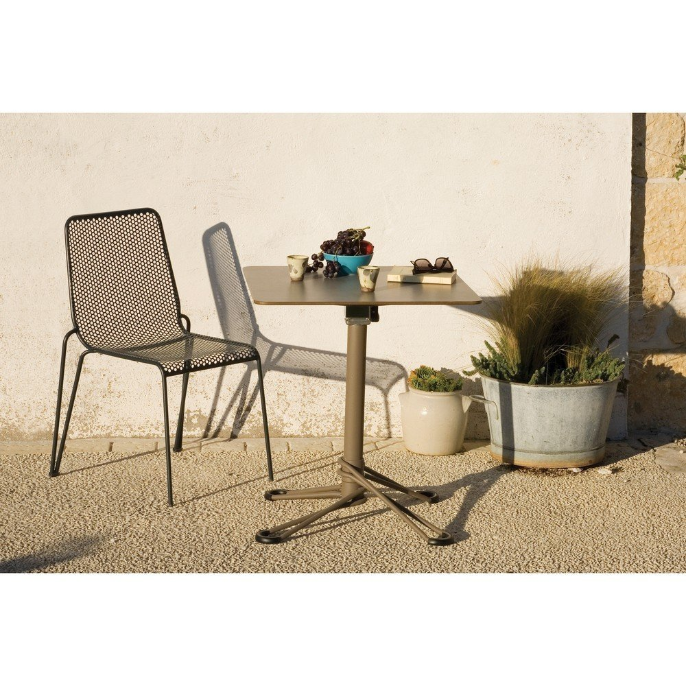 Masă de grădină pentru 2 persoane Ezeis Babylone, gri, design modern