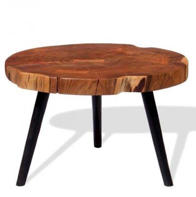 Măsuță de cafea din buștean lemn masiv de acacia (55-60)x40 cm