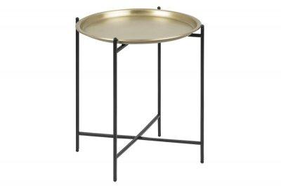 Masuta de cafea din metal Osborn Gold, rotunda, 39,5xh48 cm