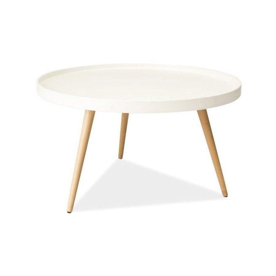 Masuta Toni B, alba, rotunda, stil minimalist