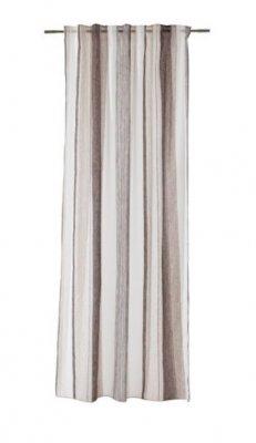 Max Draperie cu model in dungi verticale in nuante de bej si maro