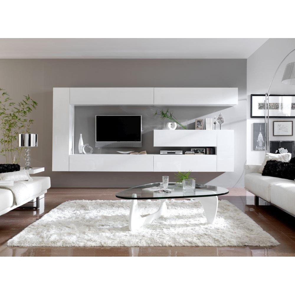 Mobilier modular living Dupen Dublin, modern, alb, lucios