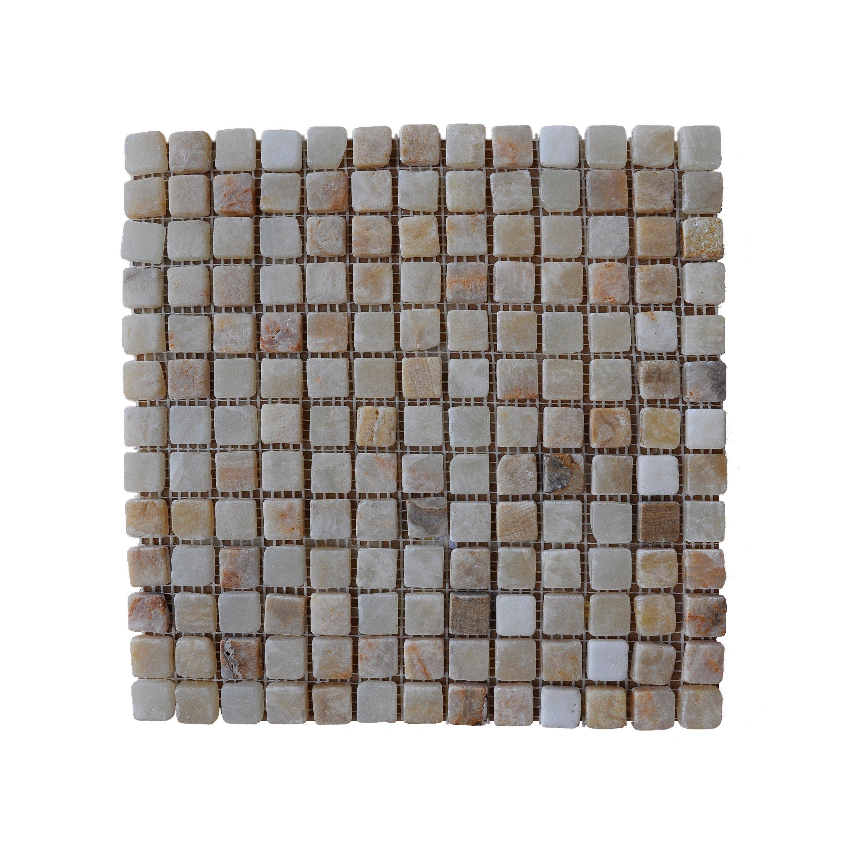 Mozaic onix, clasic, mat,  30.5X30.5, galben