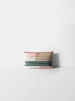 Perna decorativa din bumbac organic 40X25 cm Colour Block  S1 Ferm Living, culori pastelate