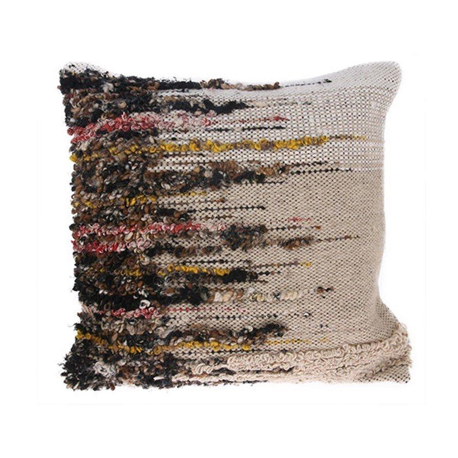 Perna decorativa maro din lana si vascoza 50X50 cm Woven HK Living