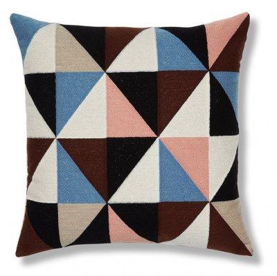 Perna multicolora din bumac cu imprimeu geometric, 45x45, Renaud La Forma