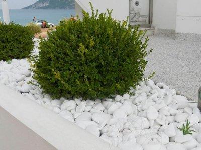 Piatra naturala ornamentala Pebble marmura alba Thassos 4-8cm