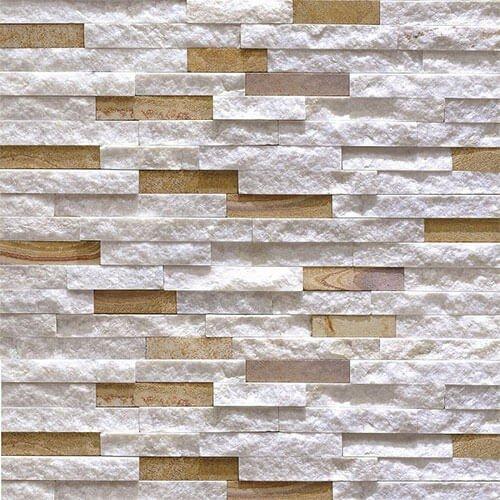 Piatra naturala ORZT047 15X60, tip panel, cuartit, bej/alb