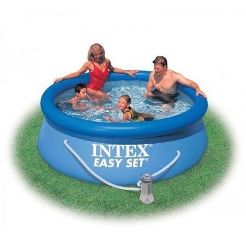 Piscina Intex easy set 244 x 76 cm, rotunda, albastra