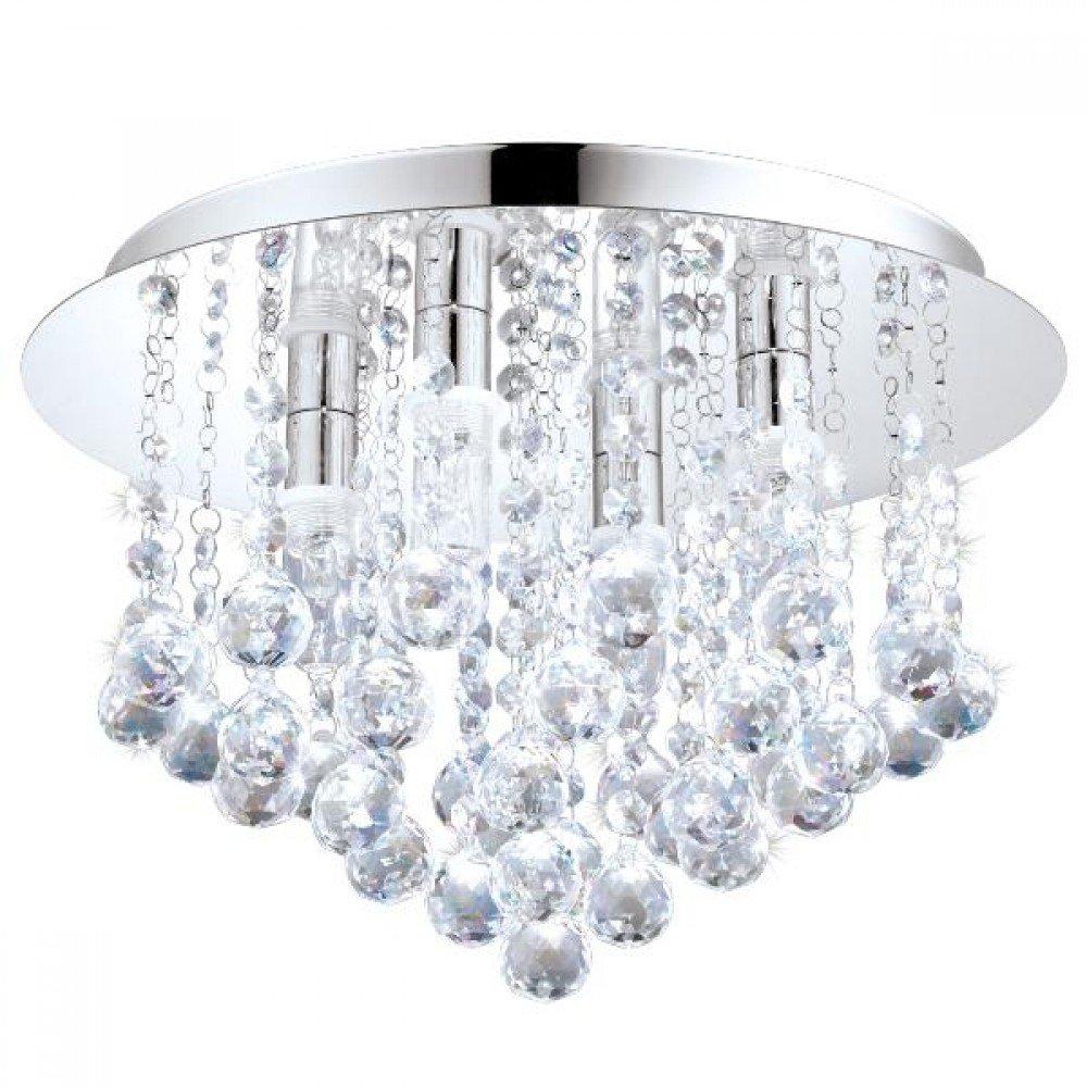 Plafoniera LED cristale baie si bucatarie Almonte Eglo, 4x2.5W-LED