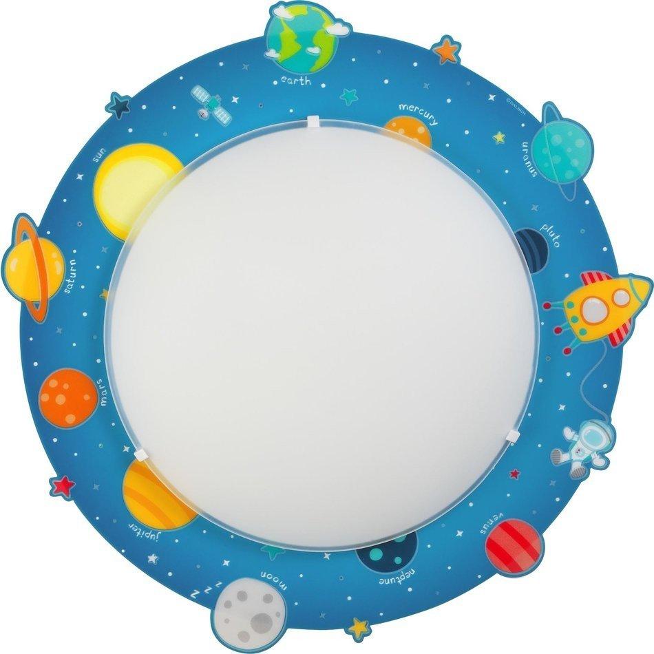 Plafoniere pentru copii rotunda,  multicolor, cu planete, 2xE27 max. 40W