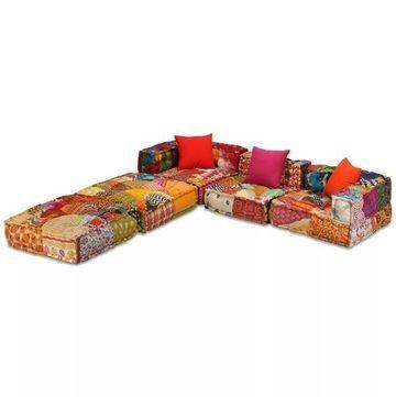 Canapea modulară cu 3 locuri Textil, Model Petice