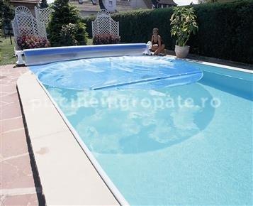 Prelata piscina -  folie solara dreptunghiulara 8 x 4m