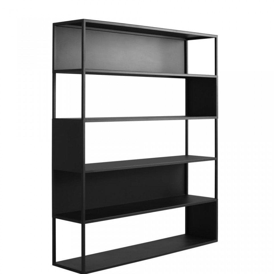 Raft metalic negru 150x180 Bookcase Hyller Custom Form