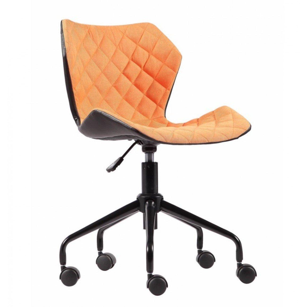 Scaun birou ING89 negru/portocaliu, cu inaltime reglabila