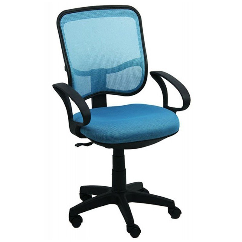 Scaun birou rotati, tapiterie mesh, albastru cu negru