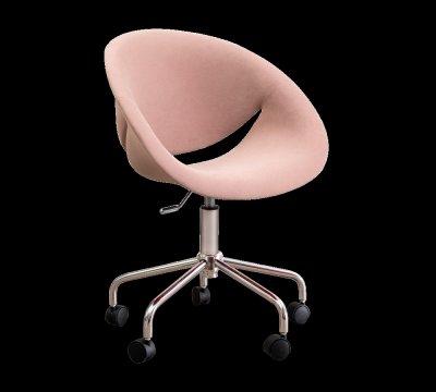 Scaun de birou Relax Pink, tapitat cu stofa
