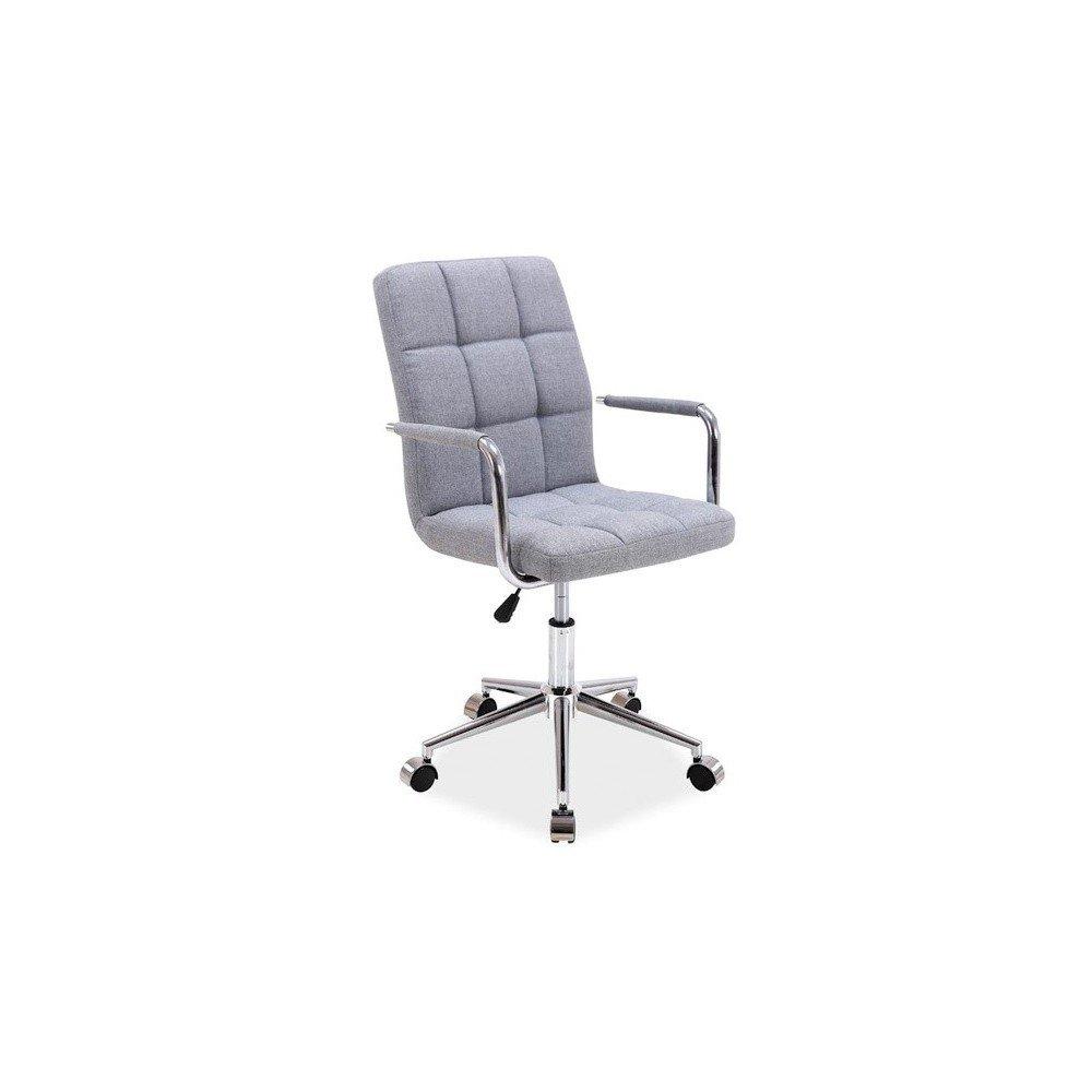 Scaun de birou rotativ, gri, tapiterie din material textil