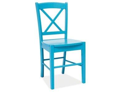 Scaun din lemn CD-56 Blue, l40xA36xH85 cm