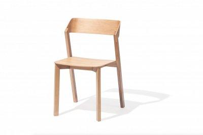Scaun din lemn de stejar Merano II Natural, l43,6xA42xH79 cm
