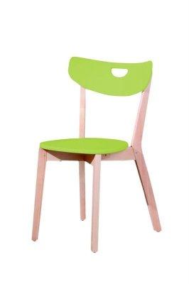 Scaun din lemn si MDF Peppi, verde, l46xA55xH80 cm