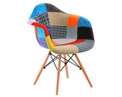 Scaun Spectral, stil nordic, tapiterie textila, multicolor