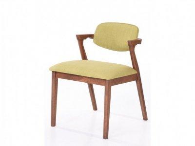 Scaun tapitat cu stofa water resistant Ivonne Green, stil modern