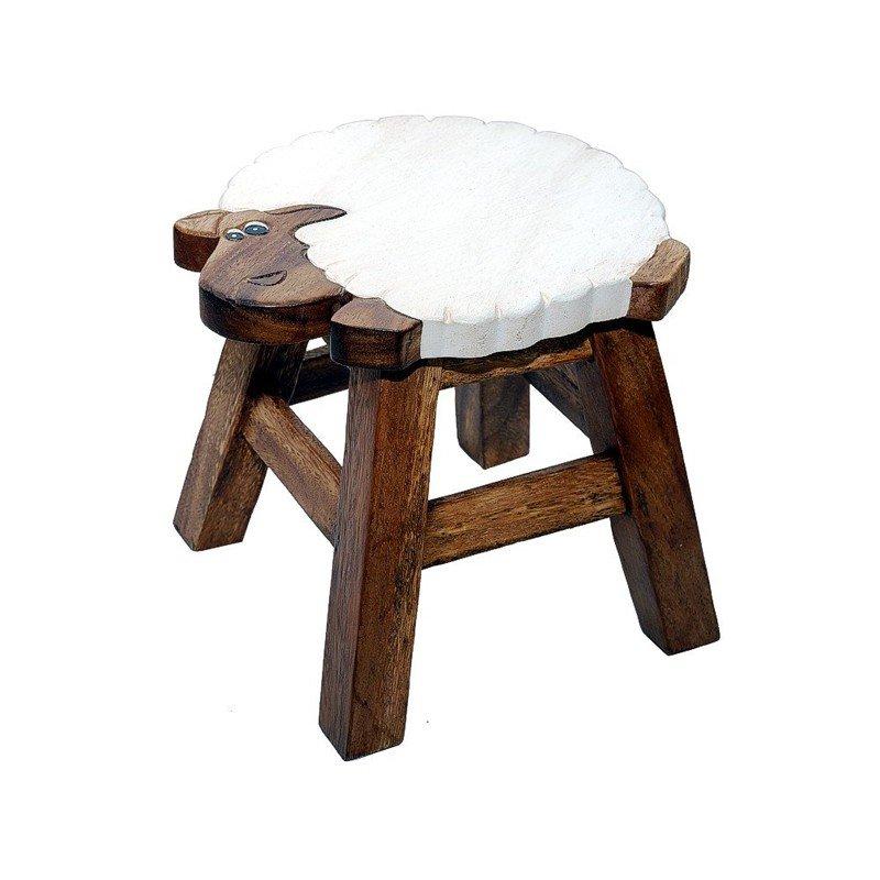 Scaunel pentru copii Shiva, lemn masiv, model oaie