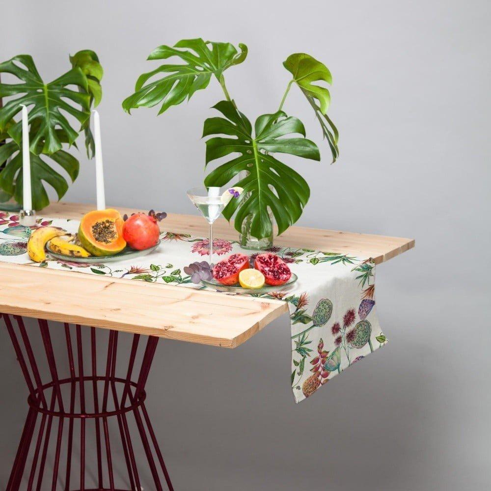 Set 2 naproane bej cu imprimeu floral,  Madre Selva Flores Salvajes