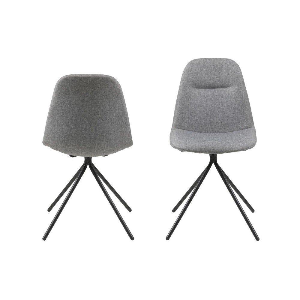 Set 2 scaune Actona Clive, gri, stil nordic
