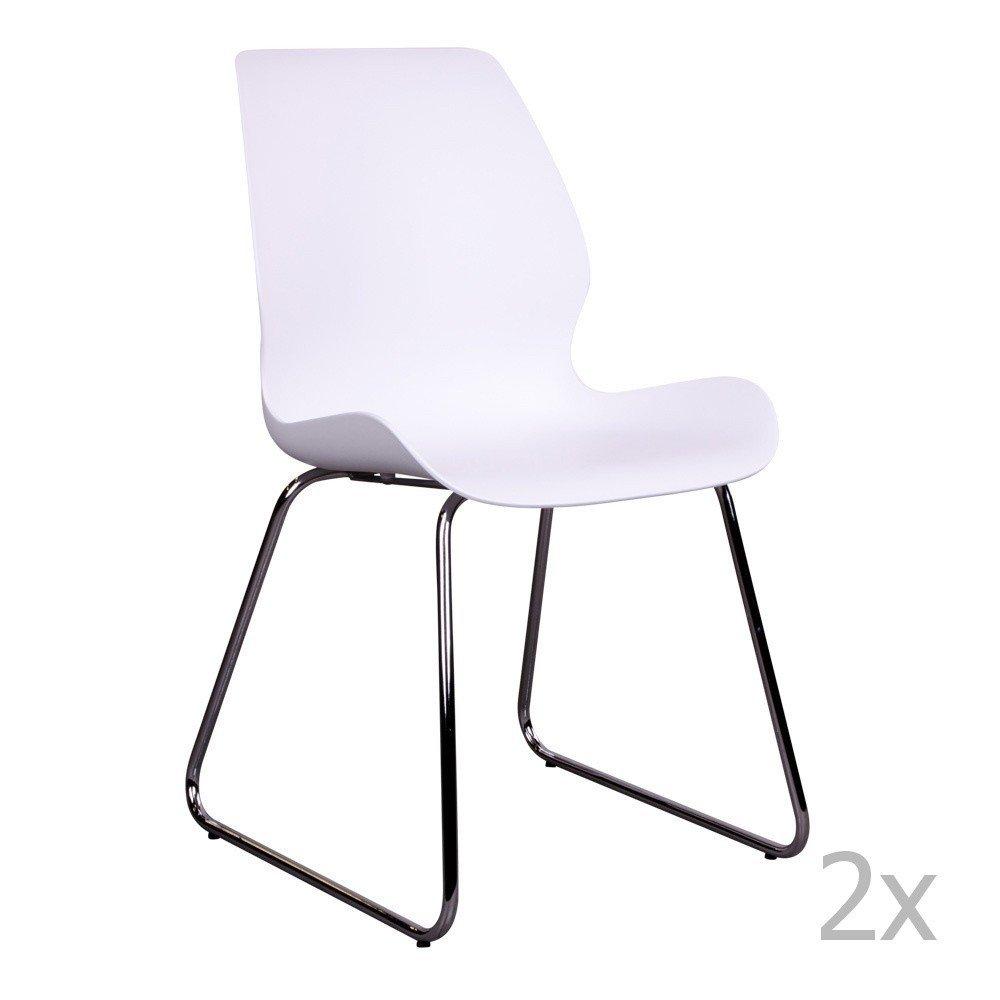Set 2 scaune House Nordic Sola, alb, plastic
