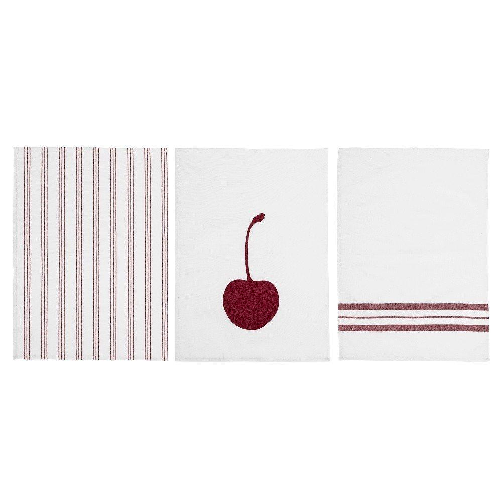 Set 3 prosoape de bucătărie Bloomingville Cherry, 70 x 50 cm