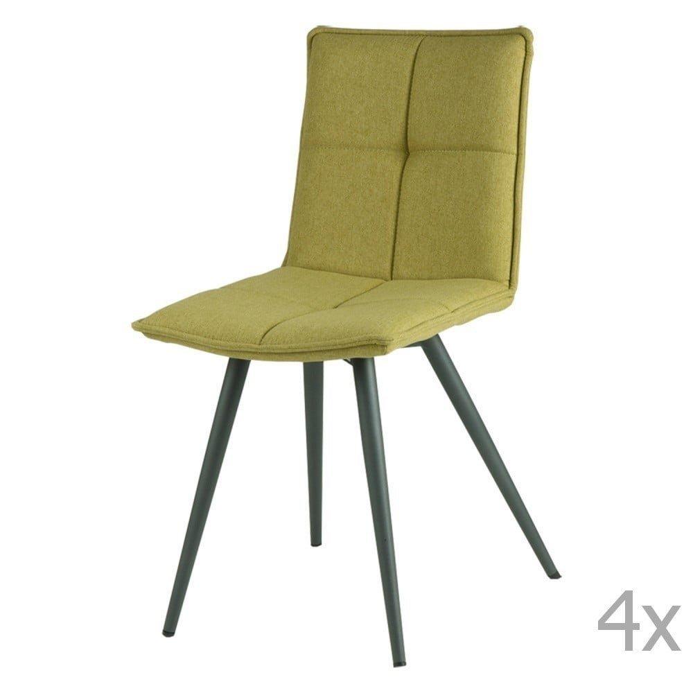 Set 4 scaune smcasa Zoe, verde, tapiterie textila