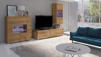 Set camera de zi Bralani VII, lemn, finisaj lucios, aspect modern, prindere in perete