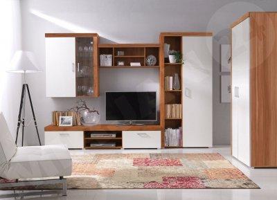 Set de mobilier Brode II din lemn de prun cu usi crem