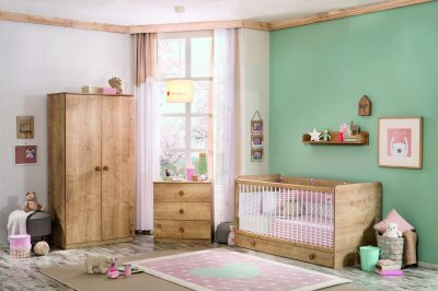 Set Mobila din pal pentru camera bebe, 5 piese, design elegant