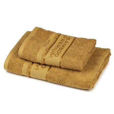 Set prosoape 4Home Bamboo Premium maro deschis, din bumbac si fibre de bambus