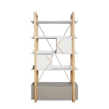 Sistem de polițe  din lemn de pin , BELLAMY Pinette, gri