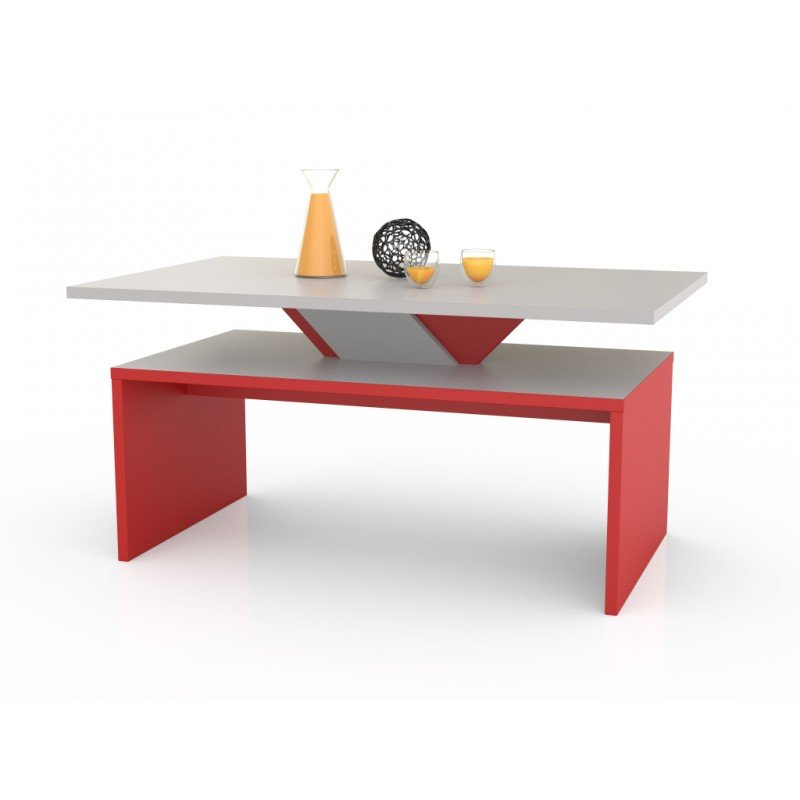 Sisi masuta de cafea, piatra gri + rosu, moderna, design scandinav