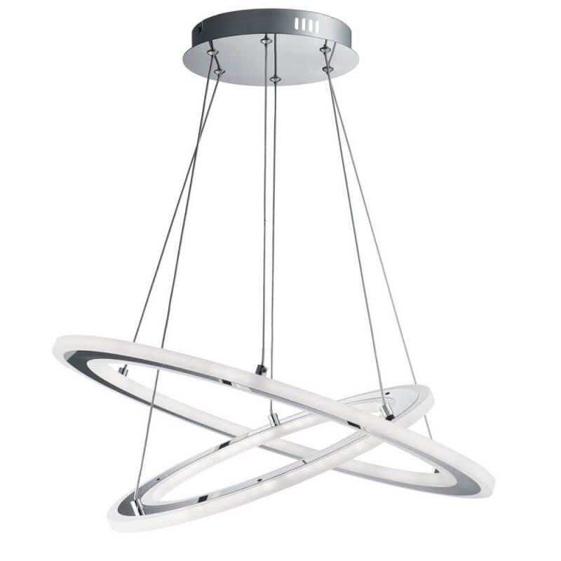 Solexa - lustra moderna cu becuri LED, metalica, forma circulara