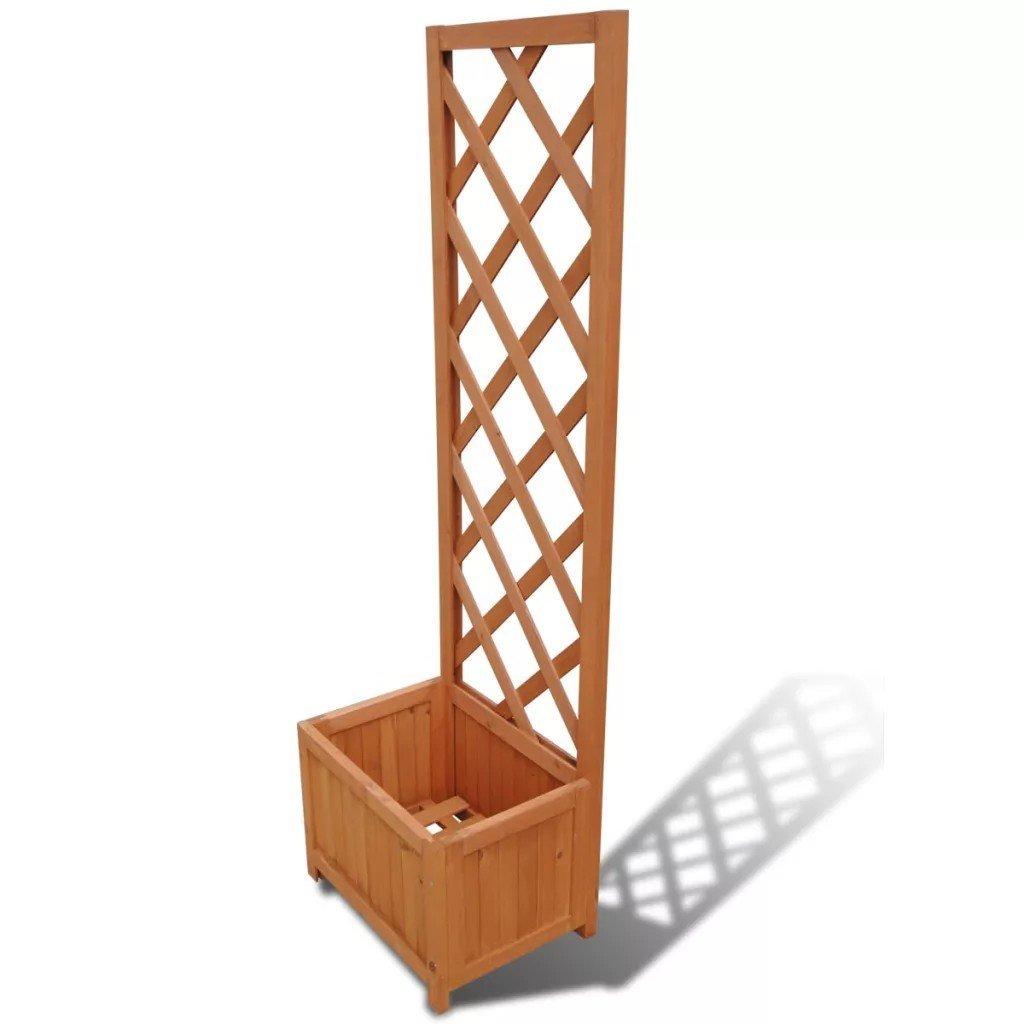 Spalier cu mască ghiveci din lemn  40 x 30 x 135 cm